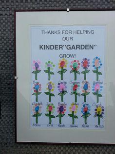 A Kindergarten Thank You...thumb print flowers