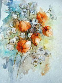 Watercolour Florals: October 2013