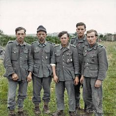 A group of veteran German prisoners captured at Maltot, south west of Caen, Normandy. ‪#‎IronCross‬ ‪#‎WoundBadge‬ 23rd of July 1944. We think that some or all of these 'Veterans' could be from the Grenadier Regiment 980 (formerly 348), 272nd Infantry Division (formerly the 216th), which had been decimated on the Eastern Front in July 1943.