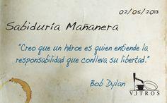 Sabiduría Mañanera con Vitros. Bonito jueves para todos :)