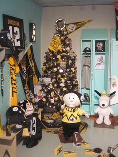 """Christmas Trees Football 2013 Kraynaks Christmas Display Hermitage, PA """"Steelers Football"""""""