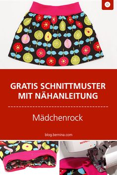 Sewing instructions girl skirt with summer flowers - Nähen für Baby & Kind - Jupe Sewing Hacks, Sewing Tutorials, Sewing Patterns, Sewing Tips, Chanel Couture, Sewing Projects For Beginners, Diy Projects, Baby Kind, Learn To Sew