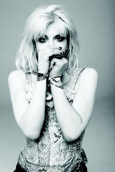 REMIX _ Courtney Love - grungy glam #lingerie #punk