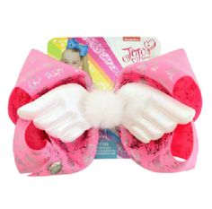 "Jojo Beautiful Angel Wings Hair Bow Hair Clip Rainbow Cartoon Bow Hair Grips 8/"""