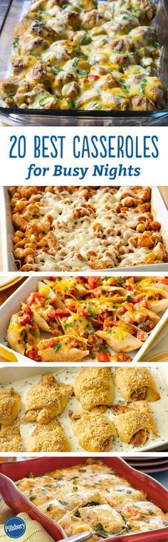 20 Best Casseroles for Busy Nights Dinner just got 20 times easier! Quick prep is the name of the game for these guaranteed-to-please casseroles and dinner bakes. We know you're busy and need dinner on the table fast. Most recipes take under 30 minutes to Crockpot Recipes, Chicken Recipes, Cooking Recipes, Dog Recipes, Recipies, Potato Recipes, Tacos Crockpot, Quick Crockpot Meals, Hamburger Recipes