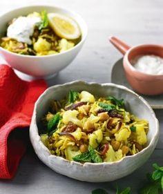 Cauliflower & Chickpea Biryani, (vegetarian meal ready in 30 mins)