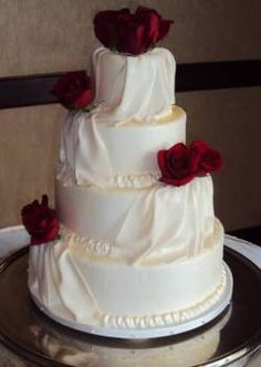 Wedding cake idea but add diamond pattern, or more textures and different flowers, maybe orchids