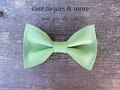 Green Leather Bow Tie or Hair Bow