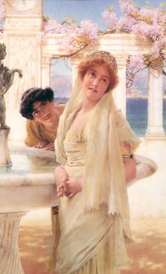 Sir Lawrence Alma-Tadema (Sir Lawrence Alma Tadema) (1836-1912)  A Difference of Opinion