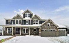 Architectural Designs Exclusive House Plan 73337HS - 4 beds, 3.5 baths PLUS a full basement with another bed and bath and family room and bar and... You'll just have to look at the photo album. Over 100 pictures fully-furnished. Where do YOU want to build? Come and get it!