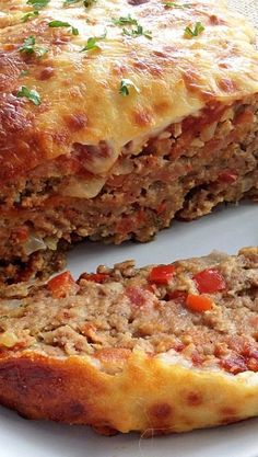 Meatloaf Italian style meatloaf would love to have with my homemade tomato sauce! Looks deliciousItalian style meatloaf would love to have with my homemade tomato sauce! Looks delicious Meatloaf Recipes, Meat Recipes, Chicken Recipes, Cooking Recipes, Recipies, Low Carb Meatloaf, Cooking Pasta, Amish Recipes, Dutch Recipes
