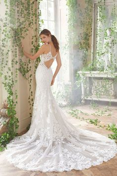 27901e5db96 Mori Lee 5702 Peta Lace Fit And Flare Wedding Gown Ivory almond ivory