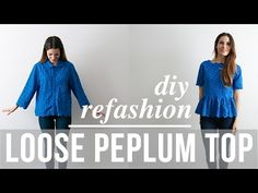 C&C: DIY loose peplum lace top refashion - video tutorial Diy Clothing, Sewing Clothes, Upcycling Clothing, Clothes Patterns, Sewing Patterns, Fashion Tips For Women, Diy Fashion, Fashion Top, Fashion Ideas