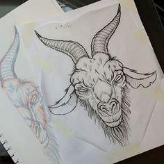 ram skull tattoo stippling google search tattoos pinterest ram skull and stippling. Black Bedroom Furniture Sets. Home Design Ideas