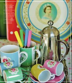Cath Kidston Come British summer time there's nothing like indulging in a little bit of chintz fun and Cath Kidston is the perfect brand to deliver such a craving. Remember how Lonny featured Kidston's UK home? Well if you enjoyed that story, be sure to have a flick through the Cath Kidston Magazine. I need to jump into my sewing box, get out my brightest fabrics and whip up a little polka dot fun!