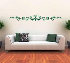 Green ornament wall sticker..
