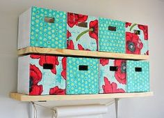 Who knew cardboard could look so cute? Learn how to make storage bins out of discarded materials w/ this #recycle craft #tutorial.