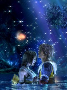 Final Fantasy X - CG Artwork, Yuna & Tidus--one of the coolest cinamatics in a game... can't wait for the vita version!