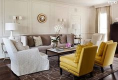 Elegant with a pop of yellow