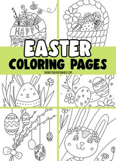 Easter Coloring Pages for Kids Kids Christmas Coloring Pages, Coloring Pages Winter, Valentine Coloring Pages, Easter Bunny Colouring, Bunny Coloring Pages, Coloring Pages For Kids, Easter Crafts For Toddlers, Craft Activities For Kids, Diy For Kids