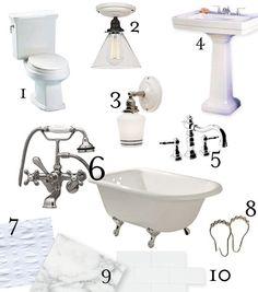 Craftsman Bathroom Reno Inspiration and Sources.