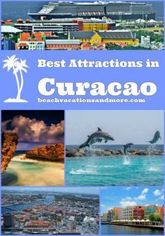 Best Curacao attractions: Shete Boka National Park, Hato Caves, Tugboat Wreck, Sea Aquarium, Dolphin Academy, Otrobanda, Handelskade Pier And Floating Market and other points of interest