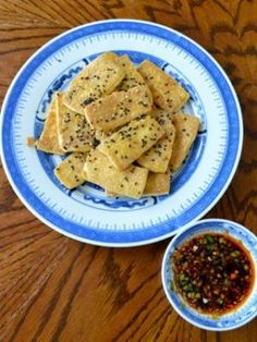 Pan-Fried Tofu with Soy Dipping Sauce - The Woks of Life Pan Fried Tofu, Fried Rice, Homemade Brioche, Brioche Recipe, Wok Of Life, Chili Garlic Sauce, Soy Sauce, Oyster Sauce, Dim Sum