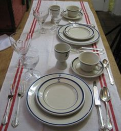 """wardroom china for our """"new"""" old trawler"""
