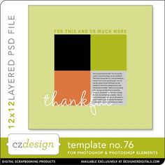 Cathy Zielske's Layered Template No. 076 - Digital Scrapbooking Templates