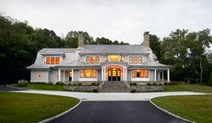 Cardello Architects offers custom design services assisting with desigining any new home such as this Gambrel House in Darien,CT. New Home Construction, Construction Design, Architecture Portfolio, Residential Architecture, Riverside Residence, Craftsman Style Kitchens, Cottage Dining Rooms, Shingle Style Homes, Gambrel Roof