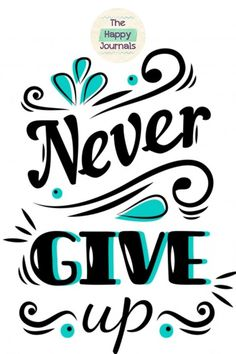 DMC Never Give Up Quotes Cross Stitch Embroidery Pattern Kits Counted 14 Count Calligraphy Quotes Doodles, Brush Lettering Quotes, Doodle Quotes, Hand Lettering Alphabet, Up Quotes, Typography Quotes, Chalk Lettering, Bullet Journal Quotes, Bullet Journal Ideas Pages