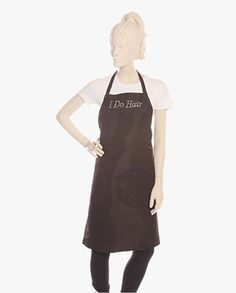 Best Buy I Do Hair Bling Apron for Hair Stylist at Salon. Shop aprons for women, aprons for men, personalized aprons, cute aprons, hair stylist apron, personalized hair stylist aprons, barber apron, black apron, aprons with pockets, plus size aprons, embroidered aprons at Salonwear in USA #apron #vest #salonapparel #salonwear #spawear