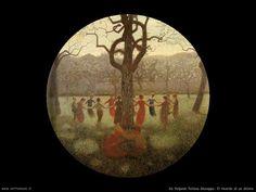 Ring Around the Rosey - Giuseppe Pellizza da Volpedo Italian Painters, Italian Artist, Good Old, Impressionist, Opera, Christmas Bulbs, Art Gallery, Images, Drawings