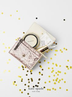 holiday gifts under $200. because she treats herself. featuring glitter bug darla and kiss & tell compact. #getgifted