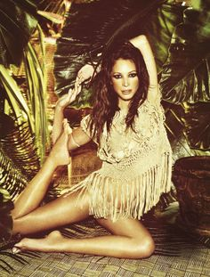 Tropical summer...  Christy Turlington by Ellen von Unwerth for Madame le Figaro June 2011
