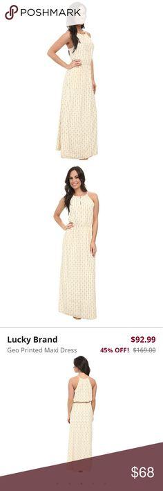 XL Lucky Brand Maxi Dress 100% silk  *never worn* Lucky Brand Dresses Maxi