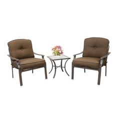 Buy Hawthorne 3-Piece Deep Seating Chair Set in Red from Bed Bath & Beyond