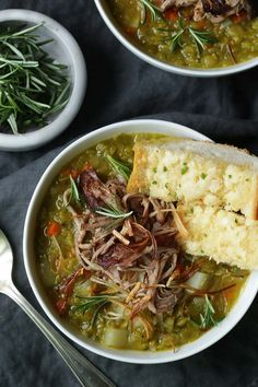 Mel's notes:Pork Confit and Split Pea Soup Recipe- entire family ADORED this soup. The pork confit was good, but the soup is fine without it, in a pinch. Use pork belly for the fat, position so it dips down into meat.