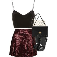 """inspired outfit for a NYE party"" by whathayleywore on Polyvore"
