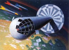 """An Astounding History of Scientific Space Art from the Past 200 Years by Ray Pioch Think """"Colombus was a Dope"""