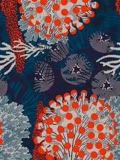 Illustrator Kustaa Saksi Debuts in Marimekko's 2015 Collection – Design &… Motifs Textiles, Textile Patterns, Textile Prints, Print Patterns, Art And Illustration, Pattern Illustration, Surface Pattern Design, Pattern Art, Pattern Designs