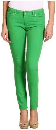 MICHAEL Michael Kors Jewels Denim Colored Skinny Jean (Fresh Green) #products #mystyle