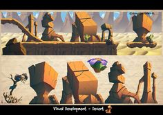Game visual development for my former studio. Fun stuff to do by Javier Burgos