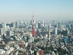 a view over Tokyo