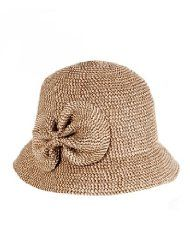 76b2eed53d0 Luxury Lane Womens Straw Specked Bucket Hat with Side Bow