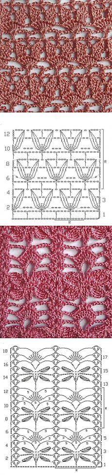 Ажурные узоры крючком