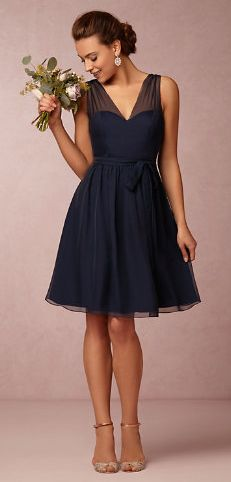 4272bad29c0 a pretty bridesmaid dress in a style she can wear again  bridesmaiddresses  Navy Bridesmaids Dresses