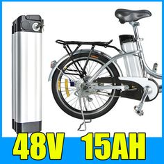 48V 15AH Lithium Battery , Aluminum alloy Battery Pack , 54.6V Electric bicycle Scooter E-bike Free Shipping