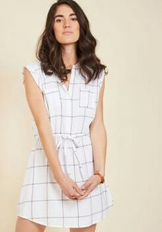 b45e34863c Packing light is no problemo with this white shirt dress ready to remix!  This Jack by BB Dakota frock flaunts a buttoned bodice
