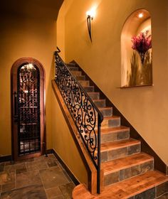 Mediterranean Staircase Design, Pictures, Remodel, Decor and Ideas - page 18
